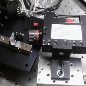 PSM Point Source Microscope aligning an off-axis parabola to a fiber feed using a plane mirror